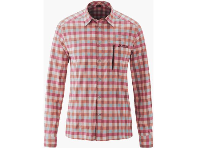 Maier Sports Mats LS Shirt Men red/blue check